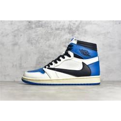 "PK BATCH Travis Scott x Fragment x Air Jordan 1 High OG ""Military Blue"" DH3227 105"