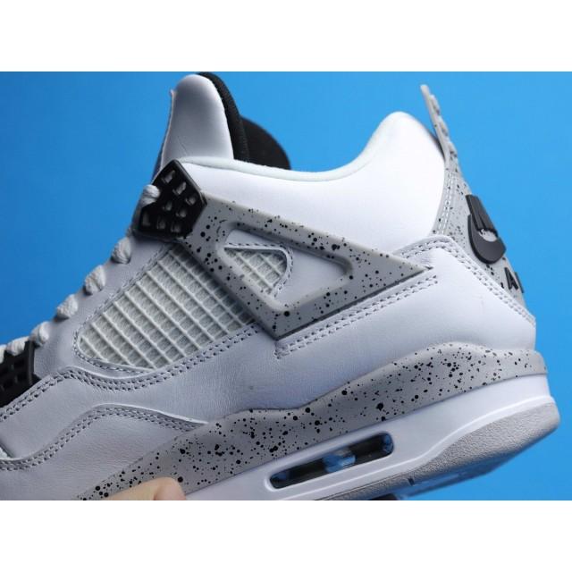 """H12 BATCH Nike Air Jordan 4 Retro """"White Cement"""" 840606 192"""