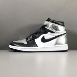 GOD BATCH Air Jordan 1  High OG Reto Silver Toe CD0461 001