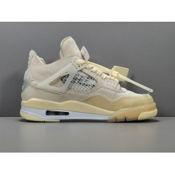 "OG BATCH Off White x Air Jordan 4 ""Sail"" CV9388 100"