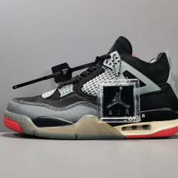GOD BATCH Off White x Air Jordan 4 Bred CV9388 001