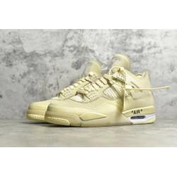 """PK BATCH Off White x Air Jordan 4 """"Cream Sail"""" CV9388 100"""