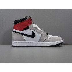 "GOD BATCH Air Jordan 1 High ""Smoke Grey Red"" 555088 126"
