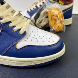 "GOD BATCH Union x Air Jordan 1 ""Blue Toe"" BV1300 146"