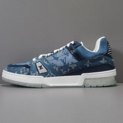 GOD BATCH Louis Vuitton LV Trainer Blue MS 1129
