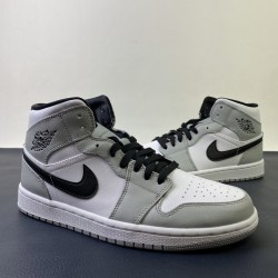 "S2 BATCH Air Jordan 1 Mid ""Light Smoke Grey"" 554724 092"