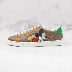 "TOP BATCH Disney x Gucci Ace Embroidered Low-GG ""Mickey"" 602548 HWM10 8961"