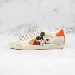 "TOP BATCH Disney x Gucci Ace Embroidered Low-GG ""Mickey"" 603697 AYO70 9591"
