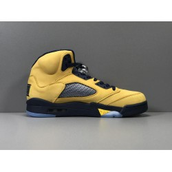 GOD Batch Men's Air Jordan 5 SP Michigan AJ5 CQ9541 704