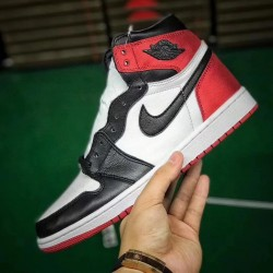H12 Batch Unisex Air Jordan 1 Retro High Satin Black Toe CD0461 016