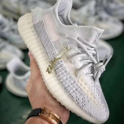 "H12 Batch Unisex Yeezy Boost 350V2"" Cloud White"" Reflective FW5317"