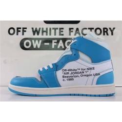 """OWF Batch Unisex OFF WHITE X Air Jordan 1"""" UNC"""" AQ0818 148"""
