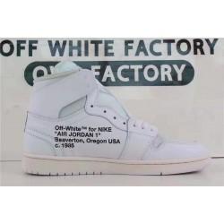 OWF Batch Unisex OFF WHITE X Air Jordan 1 White AQ0818 100