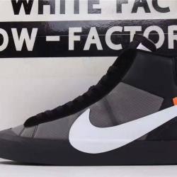 OWF Batch Unisex OFF WHITE X Nike Blazer Mid Black AA3832 001