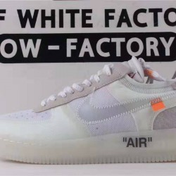 OWF Batch Unisex OFF WHITE x Nike Air Force 1 LOW VIRGIL AO4606 100