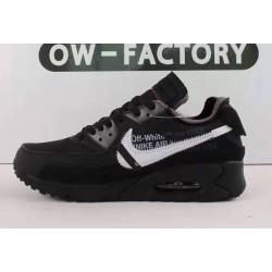 OWF Batch Unisex OFF WHITE x Nike Air Max 90 Black AA7293 001