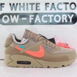 "OWF Batch Unisex OFF WHITE x Nike Air Max 90 ""Desert Ore""  AA7293 200"