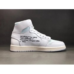 PK Batch Men's Air Jordan 1 x OFF WHITE AQ0818 100