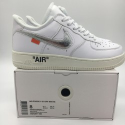 PK God Batch Men's Nike Air Force 1 OFF WHITE COMPLEX CON AO4297-100