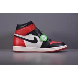X Batch Men's Air Jordan 1 Retro High OG Bred Toe 555088 610