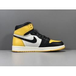 "X Batch Men's Air Jordan 1 Retro High OG ""Yellow Toe"" AR1020 700"